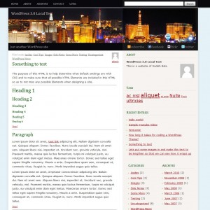 screenshot of FunCity WordPress-theme