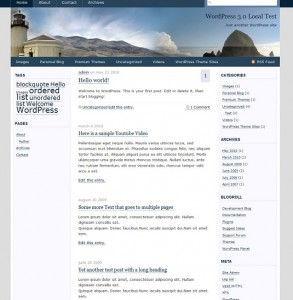 screenshot of Oregon WordPress-theme